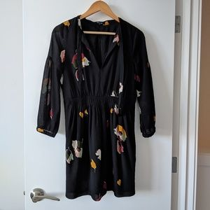 Madewell floral tie neck dress 4